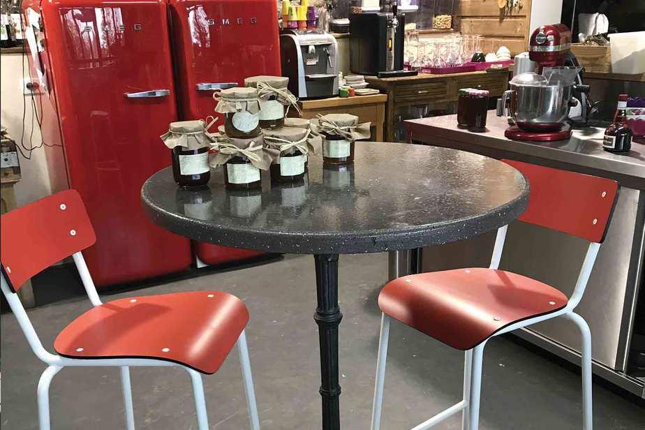 chaises de bar 65cm rouge