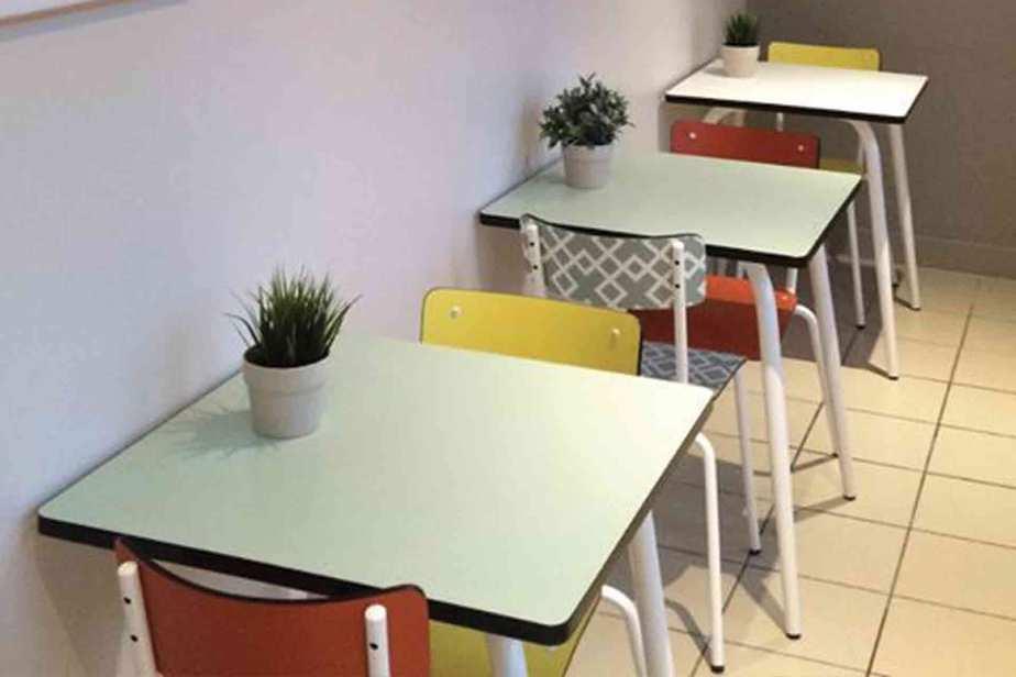 chaises suzie jaune table véra menthe