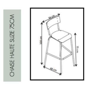 Dimensions Chaise Haute Suzie 75cm