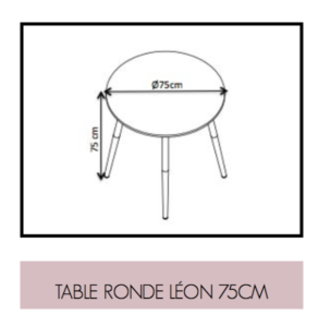 Dimensions de Table Ronde Léon