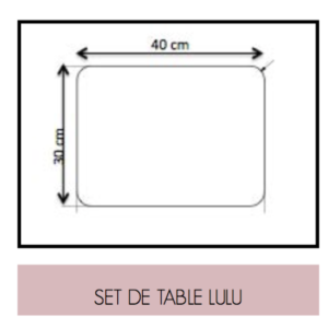 Set de table Lulul retro Dimensions