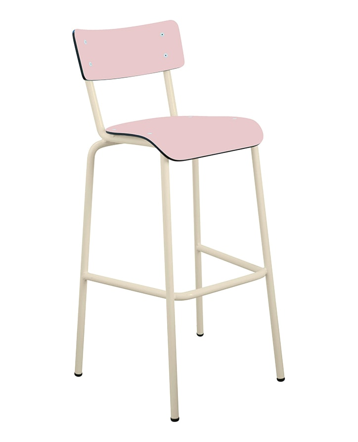 chaise de bar tabourets de bar formica suzie 75cm rose poudr. Black Bedroom Furniture Sets. Home Design Ideas
