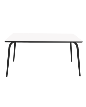 table pieds acier noirs