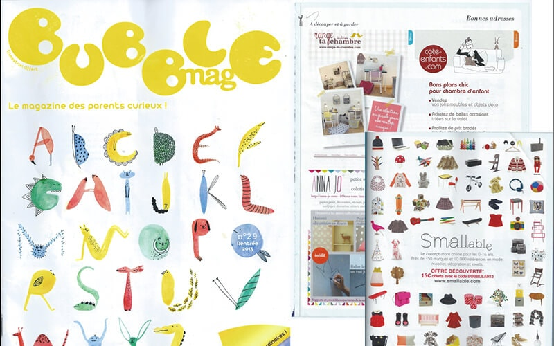 bubble mag magazine les gambettes parution presse formica little suzie chaise bureau régine retro design
