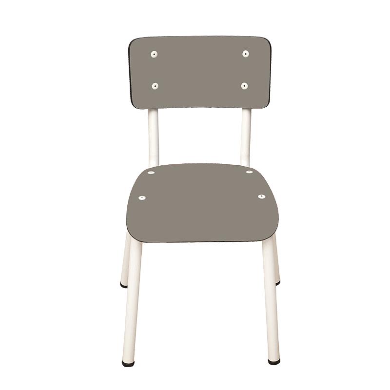 chaise enfant chaise d 39 colier formica little suzie taupe. Black Bedroom Furniture Sets. Home Design Ideas