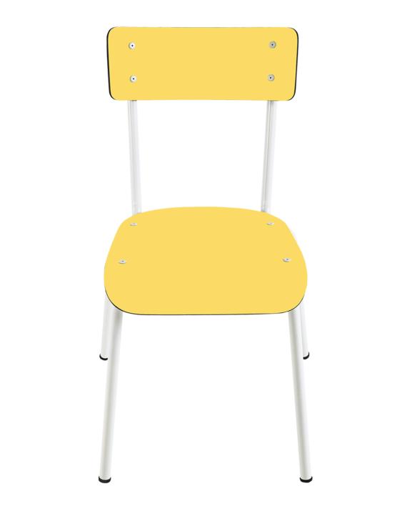 adulte chaises jaune vintage