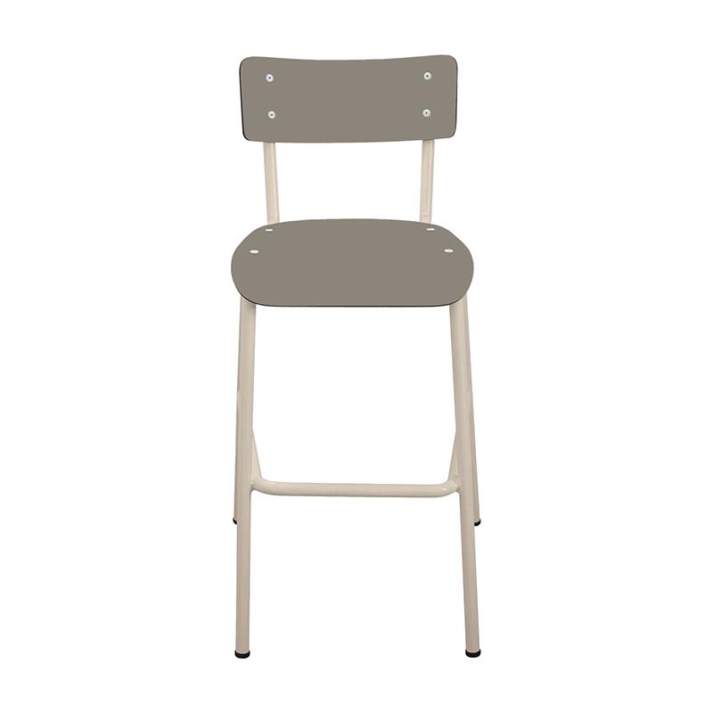 chaise de bar tabourets de bar formica suzie 65cm taupe. Black Bedroom Furniture Sets. Home Design Ideas
