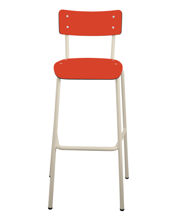 tabouret de bar rouge