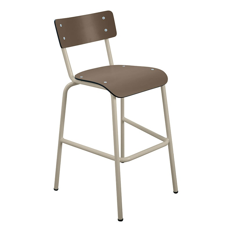 bars chaises haute taupe