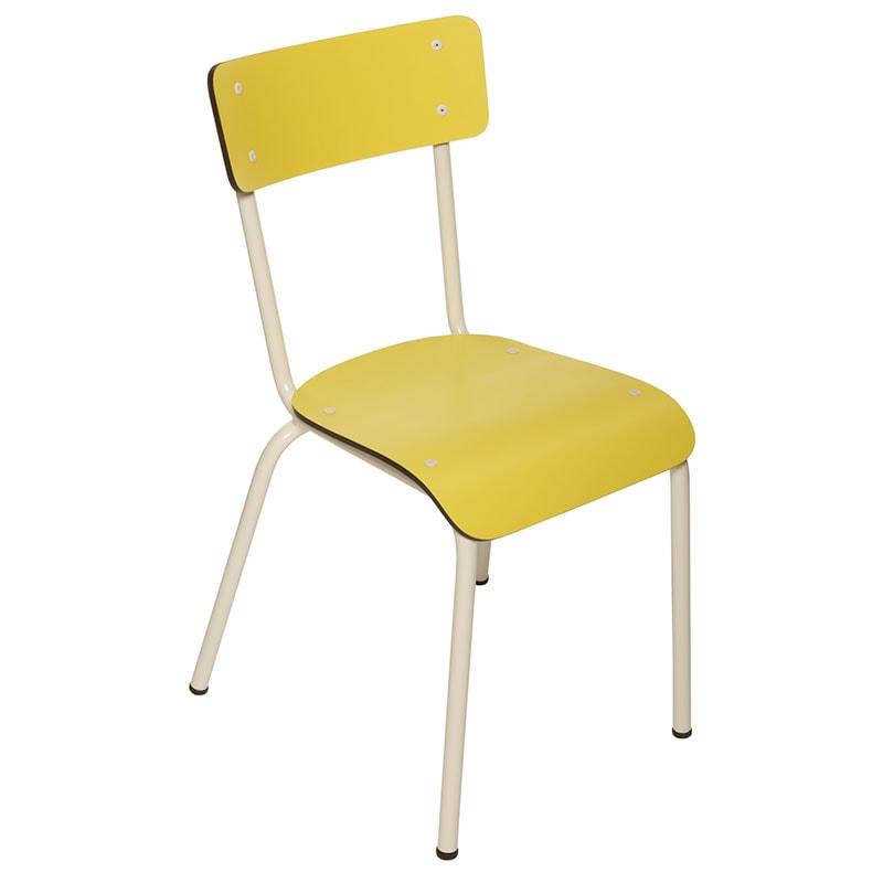 Chaise adulte Suzie Jaune Citron retro
