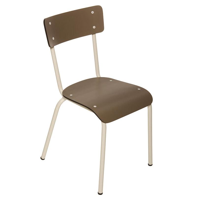 Chaise adulte Suzie Taupe retro