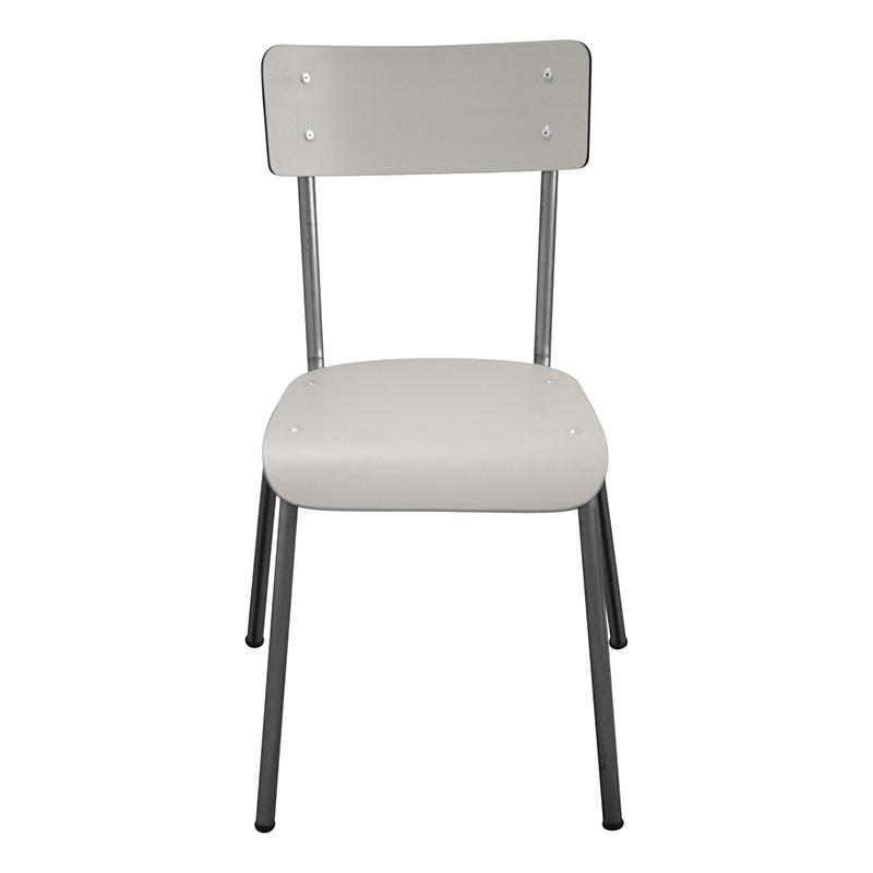 retro chaises design gris table