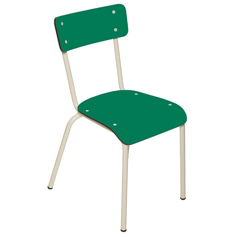 chaises enfant ecoliers bureau vert