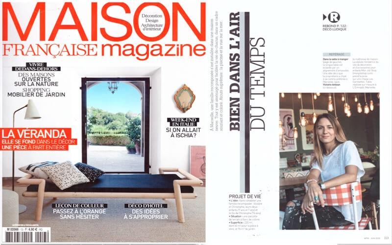 maison française magazine parutions presse les gambettes chaise suzie vichy rouge motif imprimé