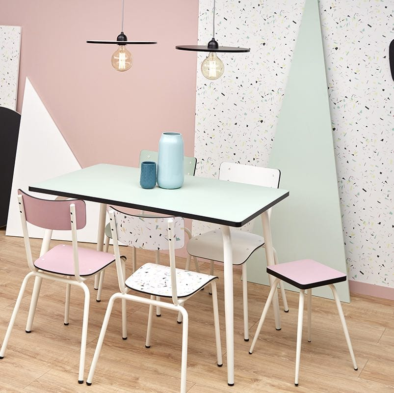 Table manger tables design r tro formica v ra 120x70 blanc for Table a manger 120x70