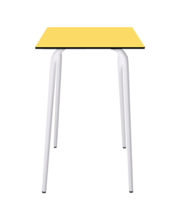 TABLE HAUTE FORMICA JAUNE