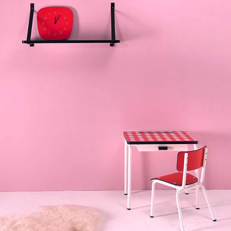 bureau enfant bureaux d 39 colier formica r gine rouge vichy. Black Bedroom Furniture Sets. Home Design Ideas