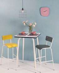 White Vera High Table 70×70