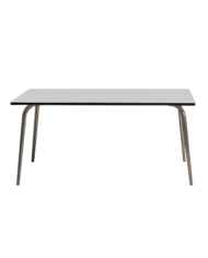Light Grey Vera Table 160×80 – Brushed Steel Legs