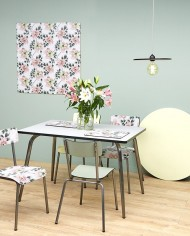 Light Grey Vera Table 120×70 – Brushed Steel Legs