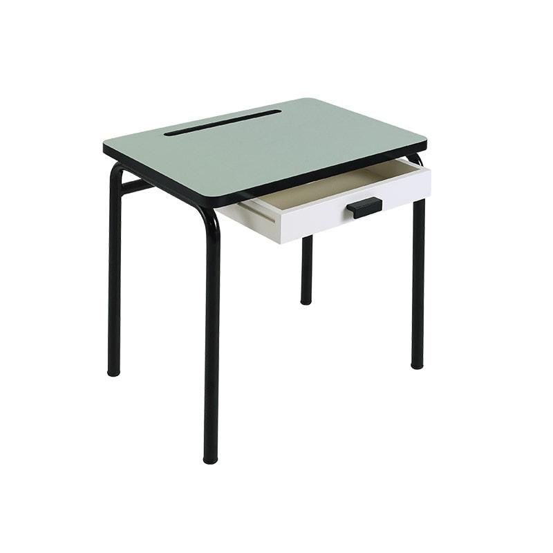 bureau enfant bureau d 39 cole formica r gine vert menthe. Black Bedroom Furniture Sets. Home Design Ideas