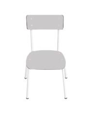 chaise enfant grise
