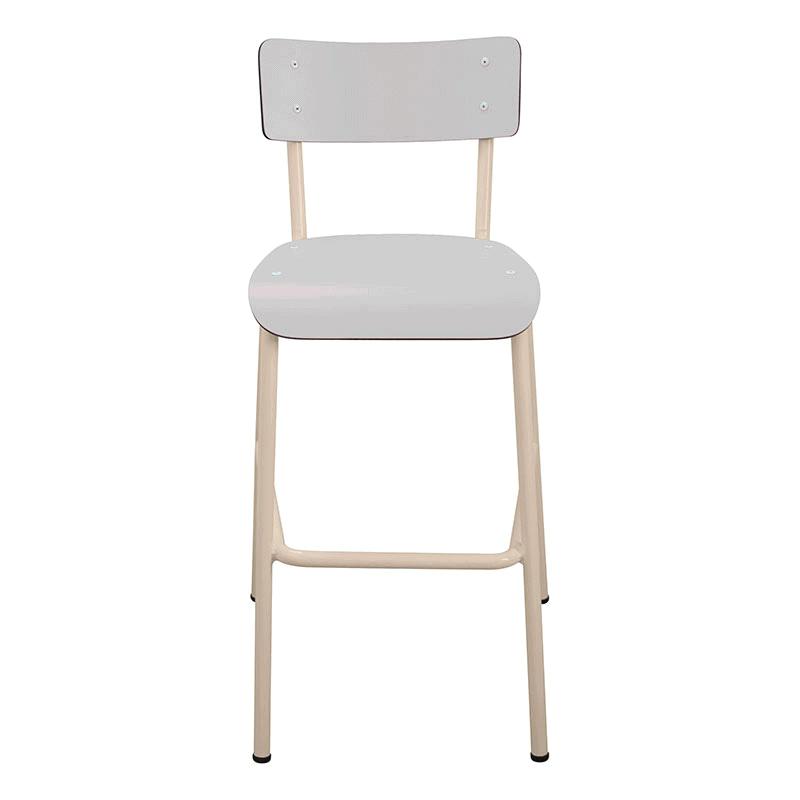 chaise de bar tabourets de bar formica suzie 65cm gris perle. Black Bedroom Furniture Sets. Home Design Ideas