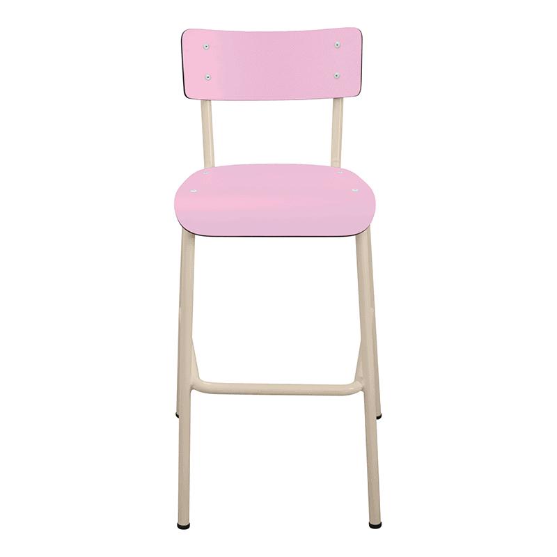Chaise de bar tabourets de bar formica suzie 65cm rose - Chaise haute 65 cm ...