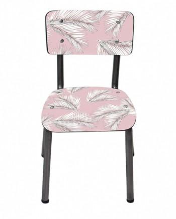 chaise enfants palme rose