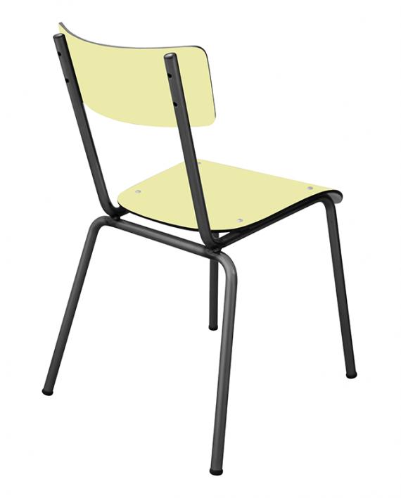 Chaise d 39 colier chaises design suzie r tro jaune citrus for Chaise 3 pieds