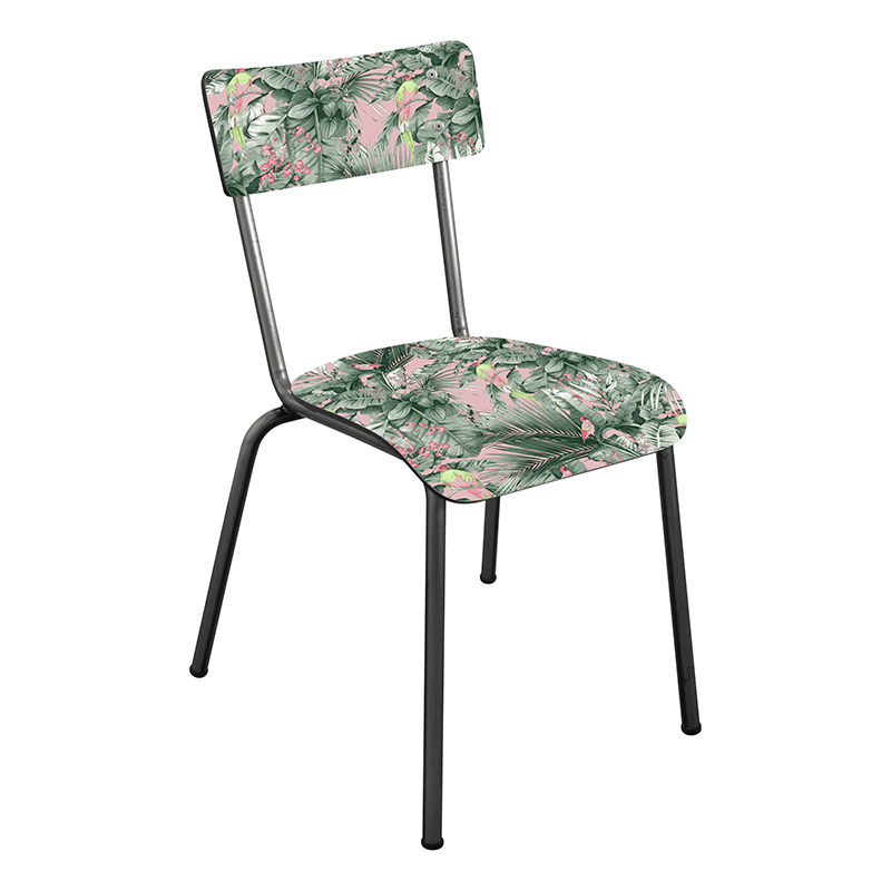chaise tropical retro vintage 50s