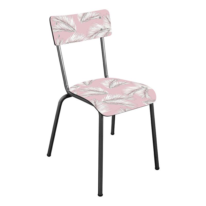 chaise suzie ecolier palme retro design