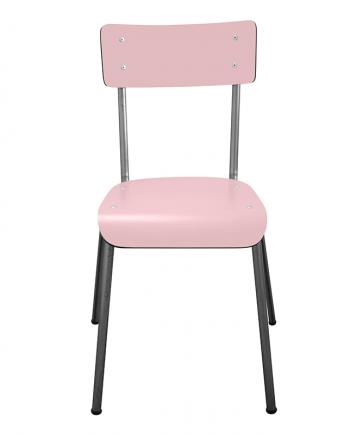 chaise suzie les gambettes bicolore noir et rose poudré retro design adulte