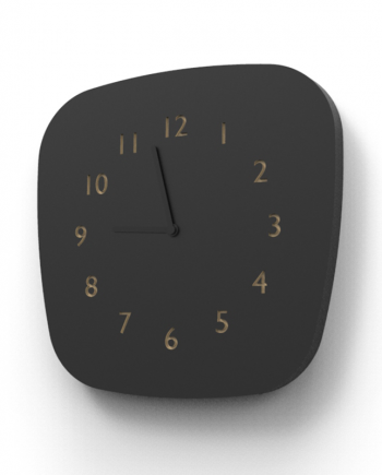 Horloge noir retro design