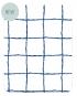 set de table les gambettes retro design imprimé carreaux bleu et blanc sur stratifié