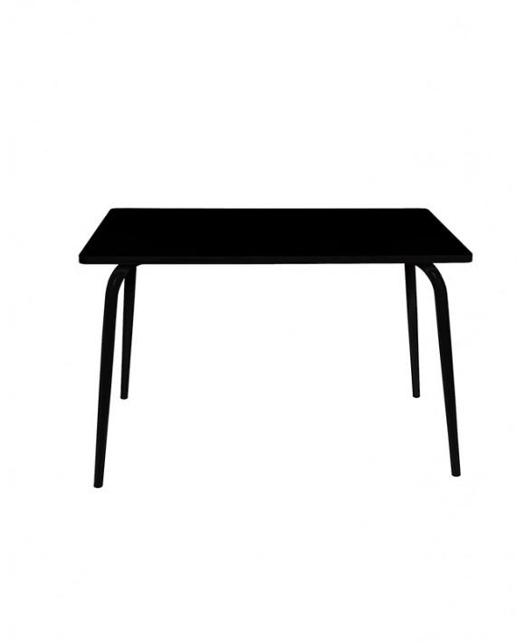 table noir pieds noirs