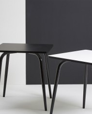 Black Vera Table 70×70 with black legs
