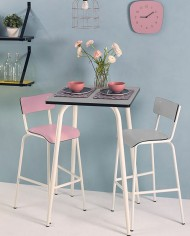 Light Grey Vera High Table 70×70