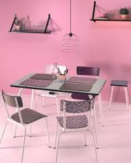 table-vera-120×70-avec-tiroir-gris-perle-chaise-carreaux-de-ciment
