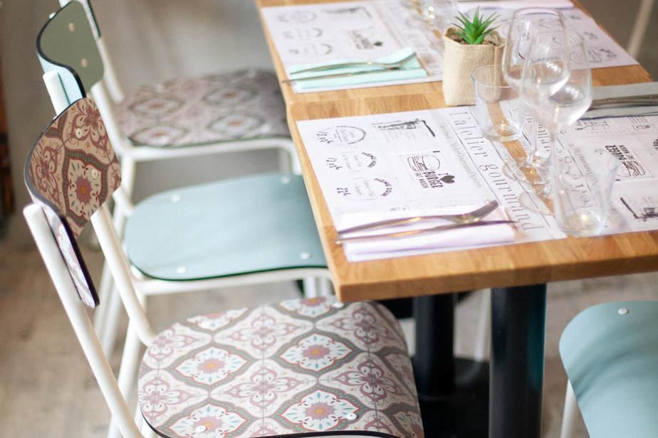 les gambettes equipe hotel restaurant chaise suzie formica vintage