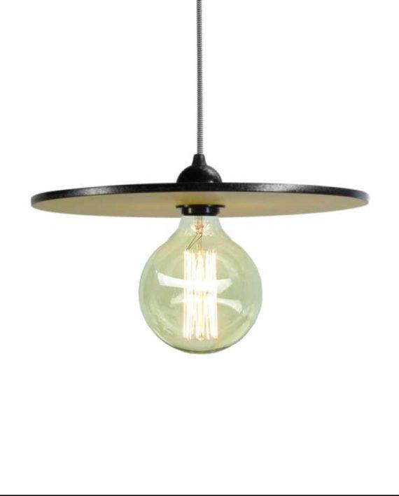 luminaire jaune rondelle formica