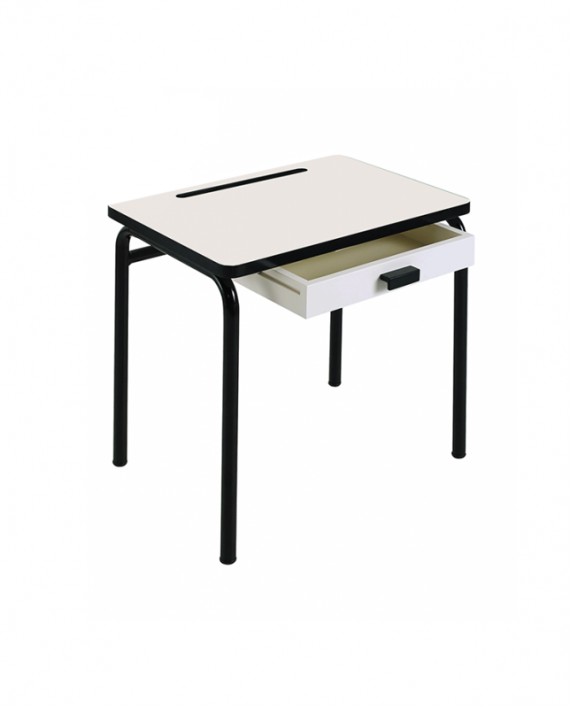 desk white black legs regine