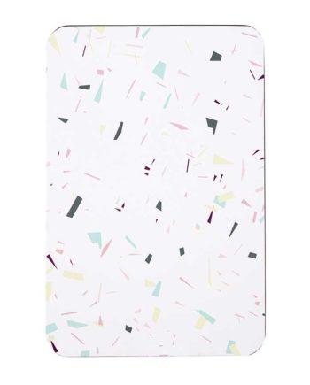 set de table confettis coloré