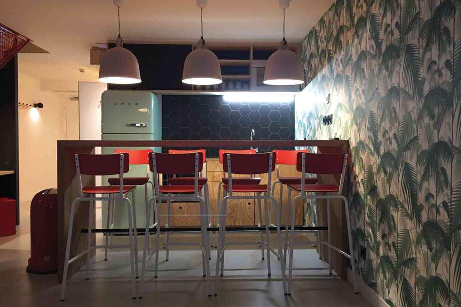 chaises suzie rouge haute 65cm