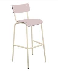 chaise haute rose poudré