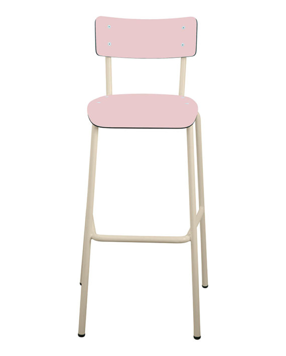 chaise de bar rose 75cm