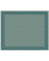 tapis vinyle art deco paon chic vert