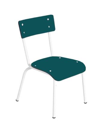 chaise enfant bleu canard