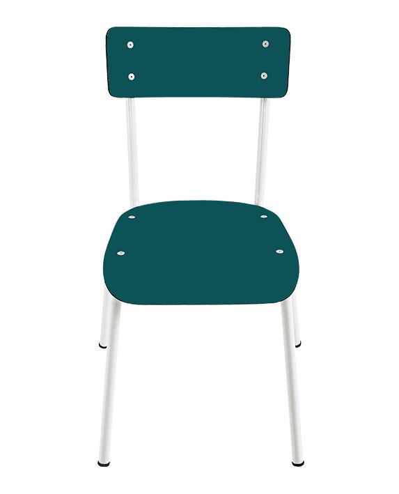 Chaise d\'écolier: chaises design Suzie rétro Bleu Jade