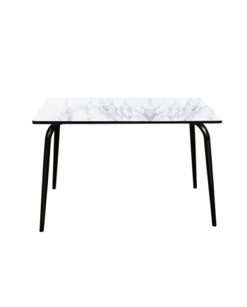 TABLE PLEAT MARBRE PIEDS NOIR